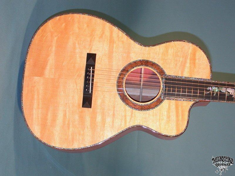 Pink Ivory OOO And J-90 Eagle Brazilian - Moonstone Guitars