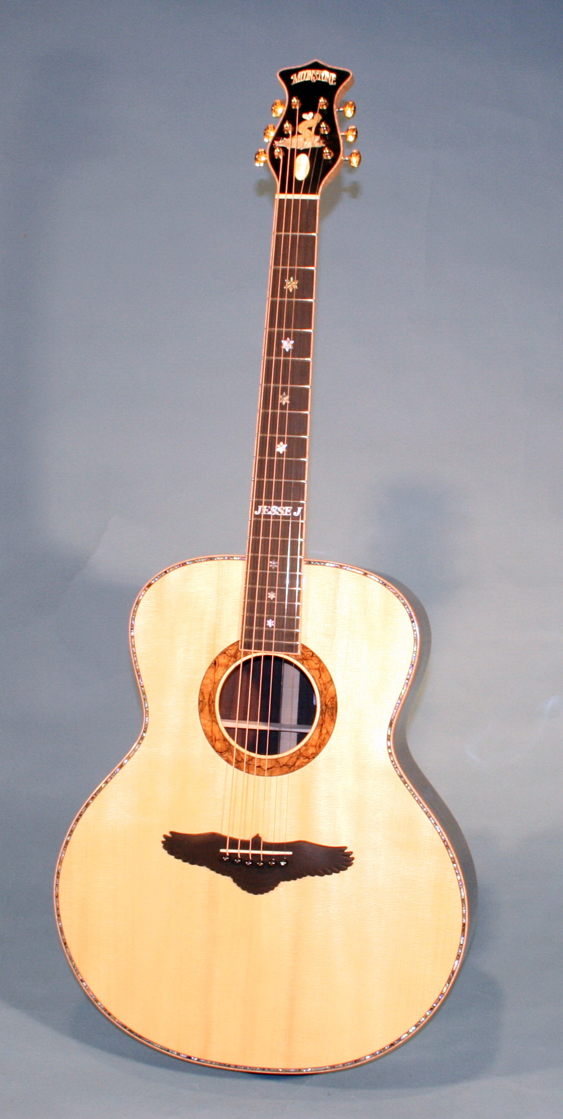 Moonstone Guitars Handmade Custom Acoustic Amp Electric
