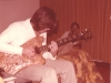 Kootch test driving custom Eagle made for him to match Lee Sklar\'s Doubleneck Eagle bass