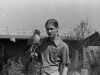 """Steve, a falconer for 15 years, with Redtail hawk \""""Icarus\"""""""