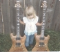 """Steve\'s daughter \""""Micah\"""" , holding two Eagle guitars 1982"""